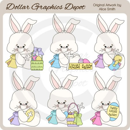 Bunny Blessings   Clip Art    Dgd Exclusive     1 00   Dollar Graphics