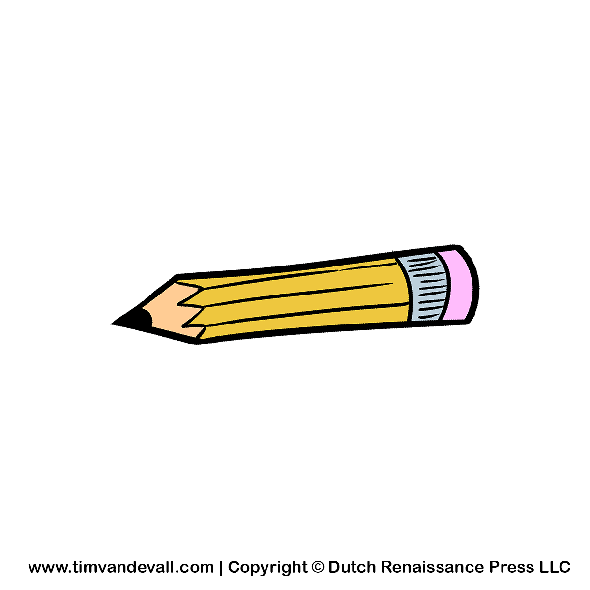 Cartoon Pencil Clipart For Kids   School Supplies Clipart Images