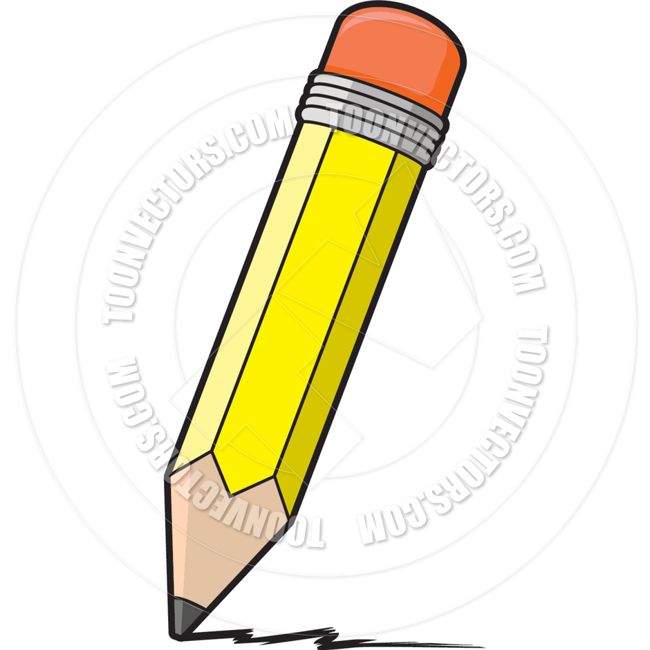 Cartoon Pencil Writing By Cory Thoman   Toon Vectors Eps  2438