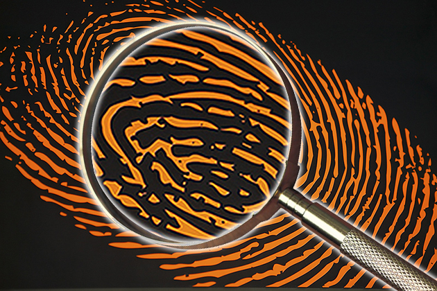 Crime Investigation Fingerprint Magnifying Glass
