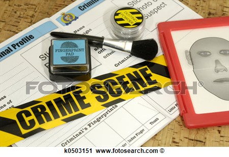 Crime Scene Related Objects   Crime Lab Concept