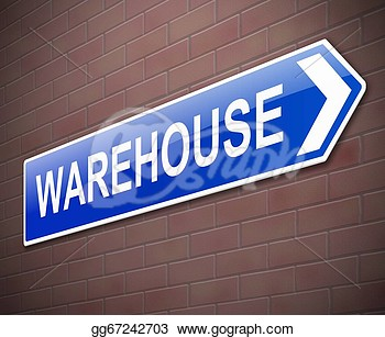 Depicting A Sign Directing To Warehouse   Clipart Drawing Gg67242703