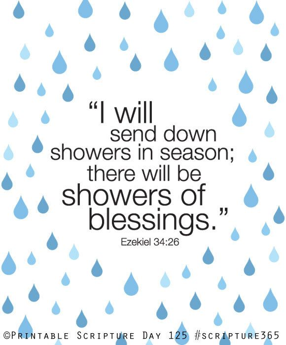 Ezekiel 34 26  Showers Of Blessing  8x10 Diy Printable Christian