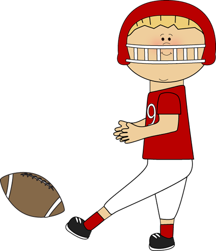 Football Player Clip Art Football Player Kicking Football Png
