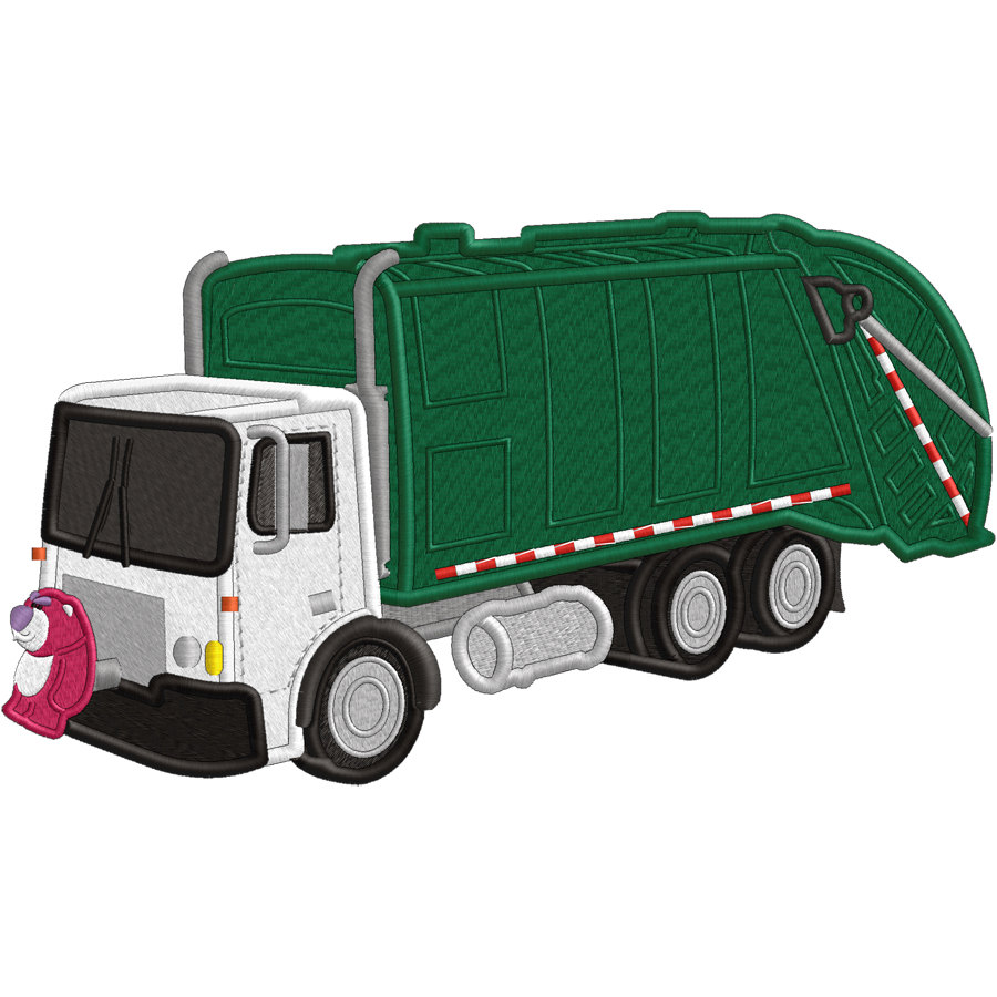 Garbage Truck Applique Or Embroidery File By Verytrulyurstoo