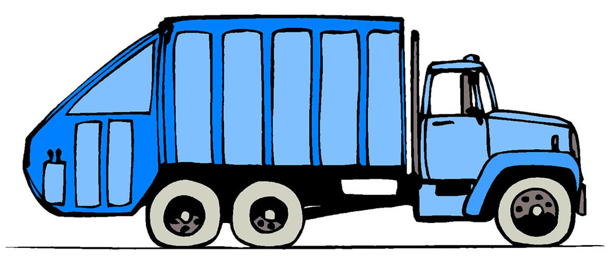 trash truck clipart clipart suggest Trash Garbage Truck garbage truck clip art outline
