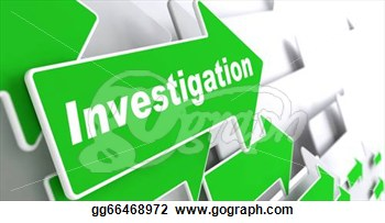 Investigation Slogan On A Grey Background  3d Render   Clip Art