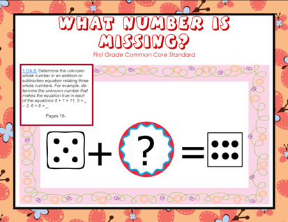 Missing Number Common Core Cards Domino Math Pdf Printable Pages Free