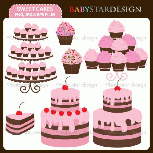 My Grafico Sweet Cakes Clipart Digitize These Cute Cakes To