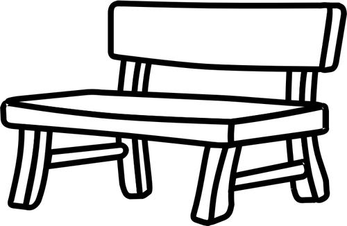 Clip Art Black And White Bench Clipart - Clipart Suggest Park Bench Clipart Black And White