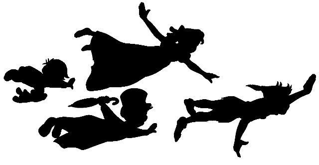 Peter Pan Flying Silhouette Tumblr Images   Pictures   Becuo