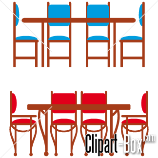 Related Dining Room Table Cliparts
