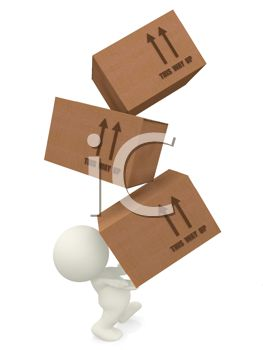 Royalty Free Clip Art Image  This Way Up Arrows Marked On Cardboard