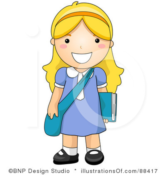 Royalty Free School Girl Clipart Illustration   Free Images At Clker