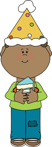 Slice Of Cake Clip Art   Birthday Boy With A Slice Of Cake Image