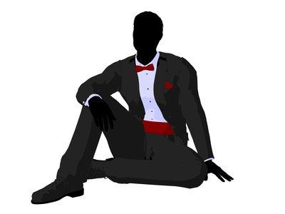 Man Silhouette Tux Clipart - Clipart Kid