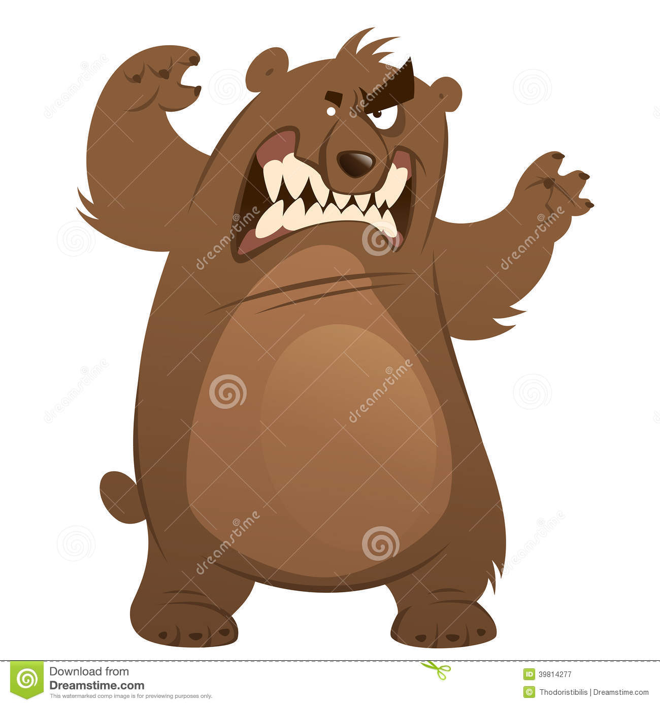 Angry Bear Clip Art Angry And Funny Cartoon Brown