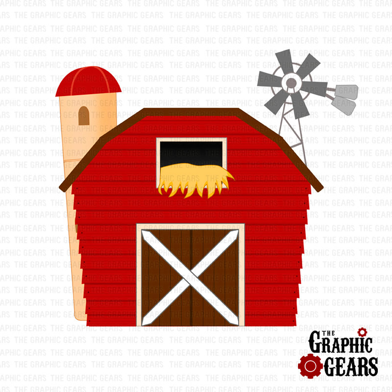 Barn Clip Art Red Barn House Barnyard Clip Art By Graphicgears