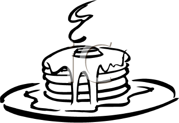 Black And White Clipart Picture Of A Stack Of Pancakes   Foodclipart