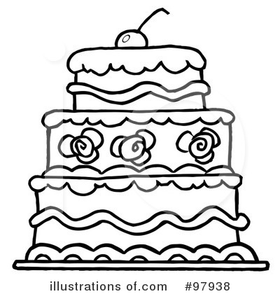 Cake Clipart  97938 By Hit Toon   Royalty Free  Rf  Stock