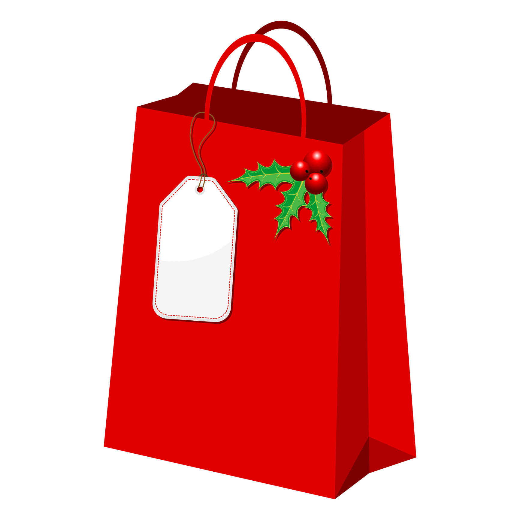 holiday shopping bag clipart clipart suggest