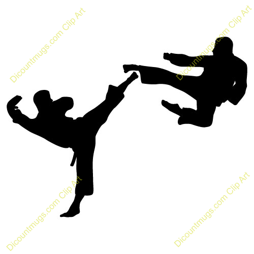 Clipart 11152 Karate Fighters   Karate Fighters Mugs T Shirts