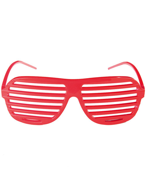 Disco Party Brille Rot Disco Fensterbrille Brille Disco Party