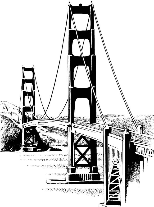 Clip Art Golden Gate Bridge Clipart free vintage clip art the golden gate bridge clipart kid bridge