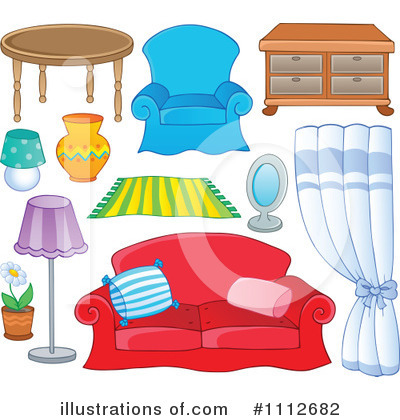 Furniture Clipart  1112682   Illustration By Visekart