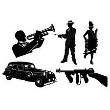 Gatsby Silhouette Clip Art   Roaring 20 S   1920 S Party Gangster