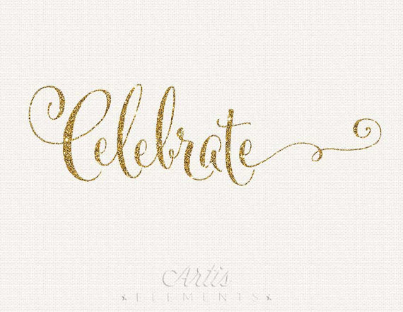 Glitter Typography   Digital Photo Overlay Calligraphy Script Clip Art