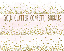 Gold Glitter Confetti Borders Clip Art  Glitter Borders And Frames