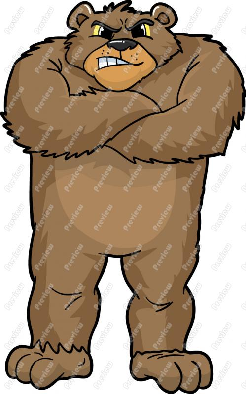 Grizzly Bear Cartoon Clip Art