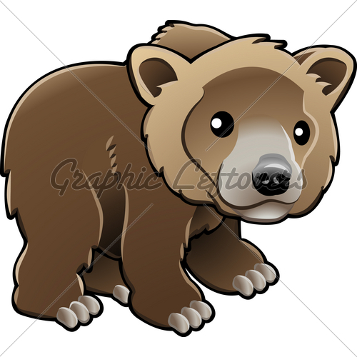 Grizzly Bear Cartoon Clip Art Pic  16