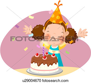 Headband Party Hat Cake Children S Day View Large Clip Art Graphic