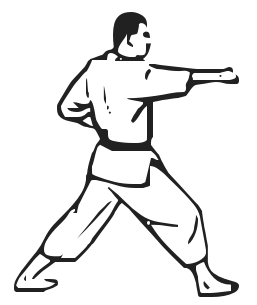Karate Figures Clipart - Clipart Kid
