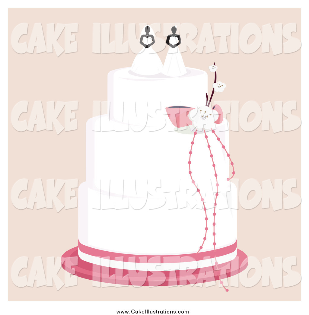 Larger Preview  Illustration Vector Of A Layered Wedding Cake With A