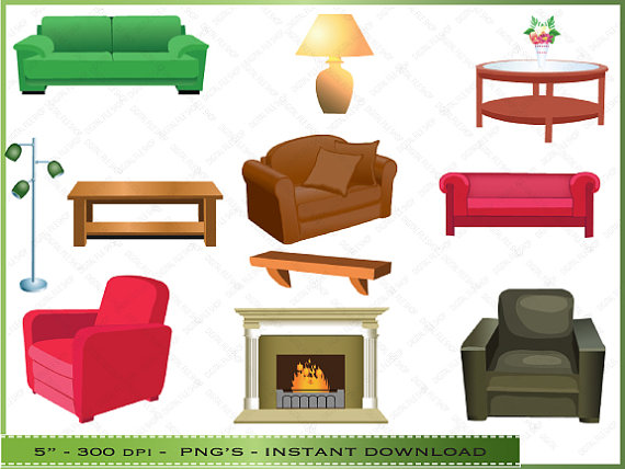 Living Room Furniture Clipart Furniture Clipart   Clip Art