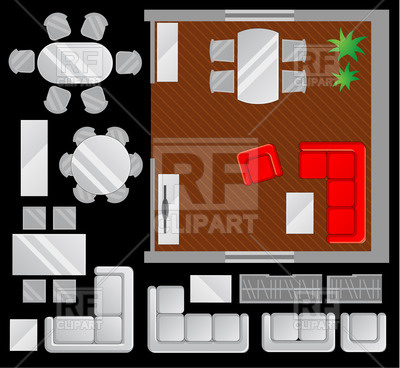 Living Room Furniture Clipart Royalty Free Clipart Picture