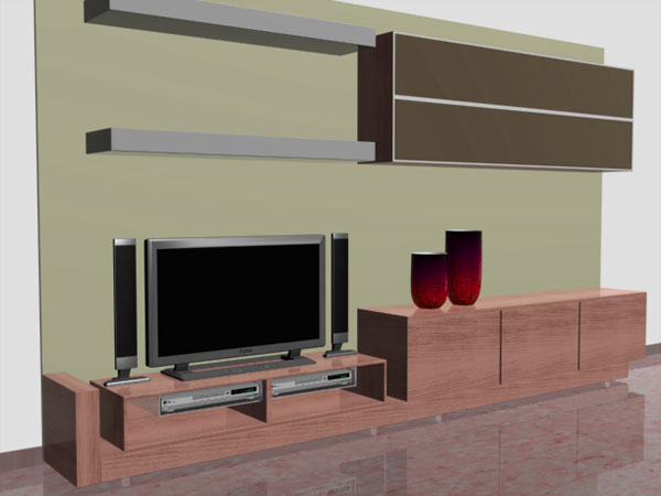 Living Room Furniture Recibidor Simple   3ds  3d Studio Max