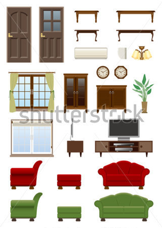 Living Room Furniture Stock Vector   Clipart Me