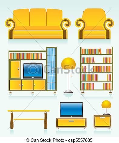 Living room furniture clip art cliparts for Living room clipart