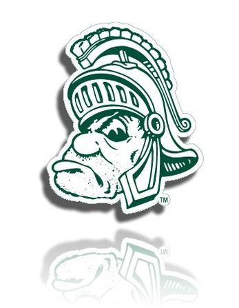 Michigan State University Gruff Sparty Shadow Large Jpg