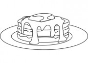 Pancakes B W This Black And White Outline Illustration Pancakes B W Is