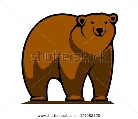 Pin Fighting Grizzly Bear Mascot Clip Art Use To Create A Logo Decal