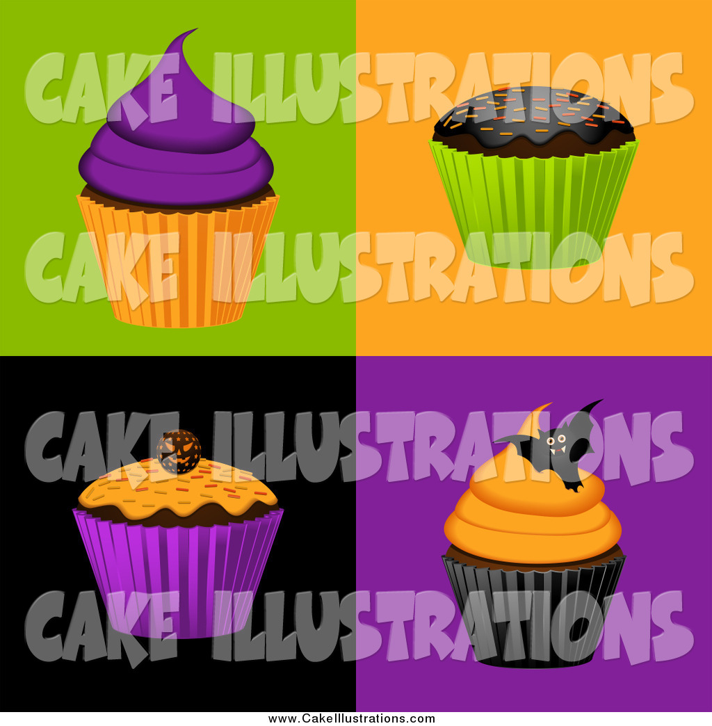 Preview  Illustration Vector Of 3d Halloween Cupcakes By Elaineitalia