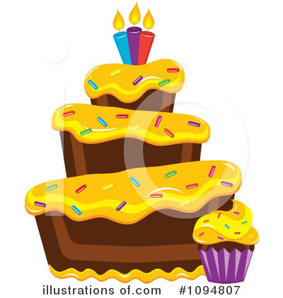 Royalty Free  Rf  Cake Clipart Illustration By Pams Clipart   Stock