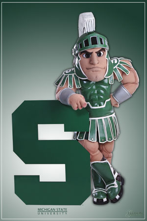 Sparty Of The Michigan State Spartans