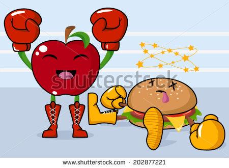 Peolple 2 Food Fight Clipart - Clipart Suggest
