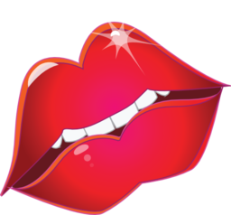 Clipart Red Lips Kiss Smiley Emoticon    Tweety   Smiley